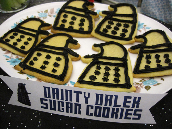 Dalek army. Or dancing Daleks, depending on your perspective.