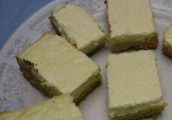 Light, fresh lemon bars. Totally made from a box mix. Don't tell Mrs. Patmore.