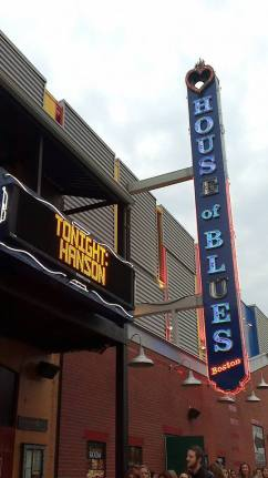 The House of Blues in Boston, concert night.