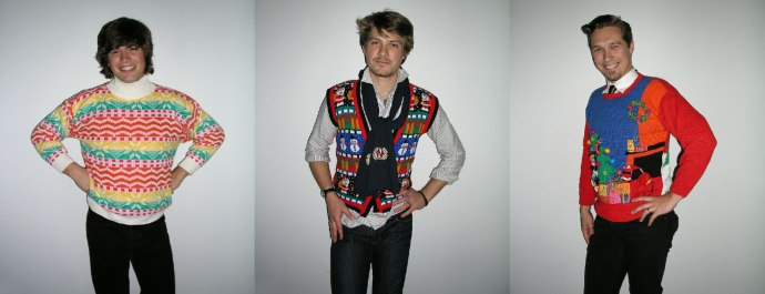 These are the sweaters that launched a thousand Hanson-themed Christmas parties. Or at least mine.