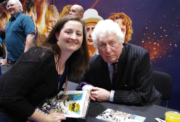 I had a nice chat with Tom Baker. That's Colin Baker in the back there.