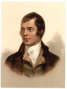 Robert Burns: Poet and lover of haggis.