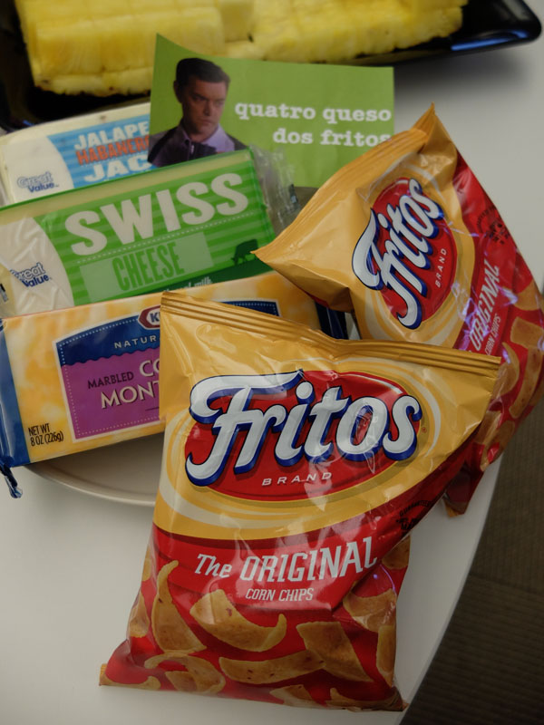 The fourth cheese is hiding behind the Fritos.