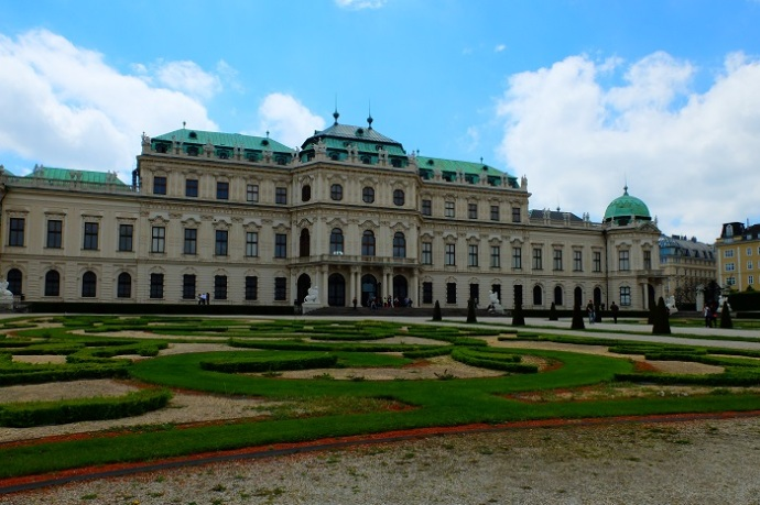 The Belvedere palace and museum is beautiful outside and in.
